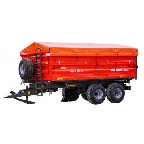 Dviašė puspriekabė URSUS T-080/2A, 10000 kg