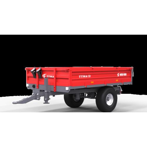 Vienaašė puspriekabė METAL-FACH, T736A, 1500 kg.