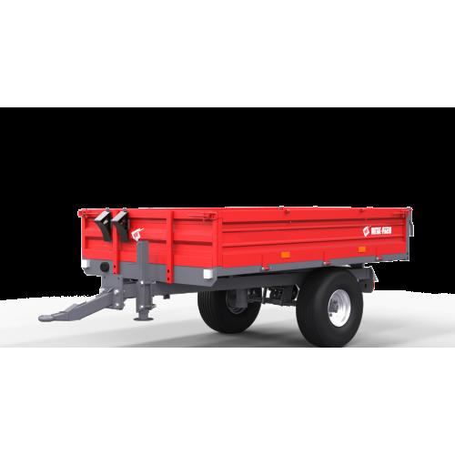 Vienaašė puspriekabė METAL-FACH, T735A - 2500 kg.