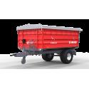 Vienaašė puspriekabė METAL-FACH, T703A - 3800 kg.