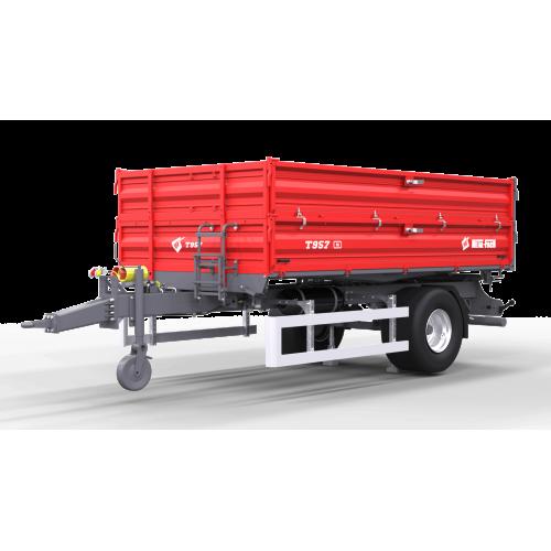 Vienaašė puspriekabė METAL-FACH, T957 - 5000 kg.