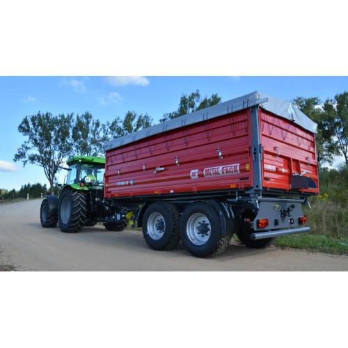 Dviašė puspriekabė METAL-FACH, T730/1 - 8000 kg.