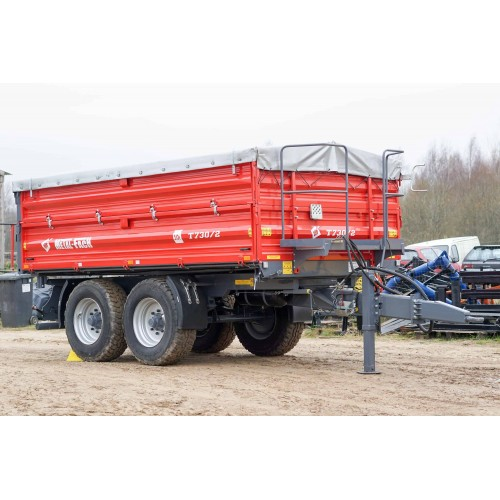 Dviašė puspriekabė METAL-FACH, T730/2 - 10 000 kg.