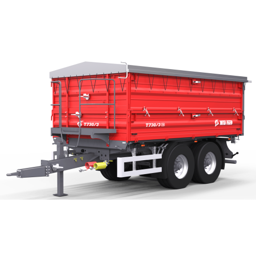 Dviašė puspriekabė METAL-FACH, T730/3 - 12000 kg.