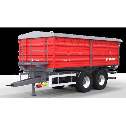 Dviašė puspriekabės METAL-FACH, T755 - 14000 kg.